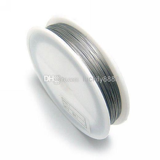 Partihandel - 10st / Parti 0.5mm Rostfritt ståltråd, Beading Wire, Nyllonbelagd rostfritt ståltråd, smyckensladdar