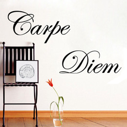 Elegant Free Shipping New Arrival Carpe Diem Quote Removable Wall Decal Stickers  Art Home Decor