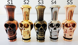 Wholesale T Ox - Drip Tips of Metal Mouthpiece Skull Ox Dragon Head animals Shape Cosboy hat for CE4 atomizer Protank Electronic Cigarette ego-t