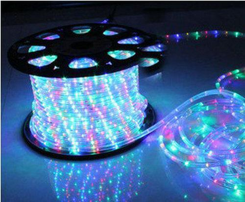 Wholesale  Free Shipping JCL 33ft 2 Wire Round LED Rope Lights Multi Color  Home