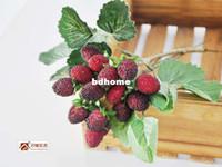 Wholesale Raspberry Decorations - Free shipping New 2014 Zakka A raspberry nine fruits High simulation flower Simulation Floral Home decoration Artificial flowers