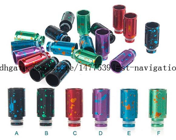 top popular HOT selling drip tip e cig 510 splash aluminum wide bore drip tip for ecigs RDA Vape Mod e cigarette 2021