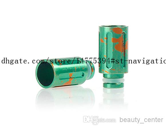 HOT vendita drip tip e cig 510 alluminio splash a punta larga drip tip sigarette RDA Vape Mod e sigarette elettroniche