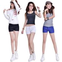 Wholesale Women Colour Jeans Pant - S5Q Women Ladies Casual Candy Colour Shorts Short Jeans Denim Cotton Pants Short AAADFF