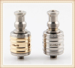 Wholesale Trident Vaporizer - 2014 New Upgrade Trident V12 dual coil atomizer huge vaporizer golden silvery color phoenix v12 rebuildable trident atomizer