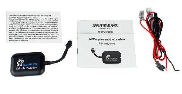 Monitoreo de seguimiento GSM / GPRS Rastreador GPS Motocicletas Sistema antirrobo de bicicleta LBS + SMS / GPRS Alarma SOS Seguimiento de ubicación en tiempo real