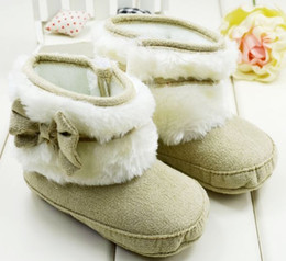 Wholesaler Boots Cheap Canada - 30%off 6pairs 12pcs Warm high-top boots! 0-1 years old baby, winter sheepskin boots cheap china baby wear shoes hot kid shoes Z
