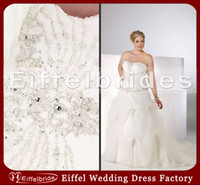 Wholesale Super Plus Size Wedding Gowns - Super Plus Size Wedding Dresses with Sexy Bling Bling Crystals Slight Sweetheart Neck and Stunning Ruched A-Line White Organza Bridal Gowns