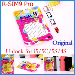 Wholesale 4s Unlock - Original R-SIM 9 RSIM9 R-SIM9 Pro Perfect SIM Card Unlock Official IOS 7 7.0.6 7.1 ios7 RSIM 9 for iphone 4S 5 5S 5C GSM CDMA WCDMA 3G 4G