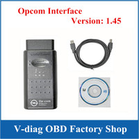 Wholesale Op Com Interface - High Performance OBD2 Diagnostic Interface OP COM Cable OPCOM V1.45 --OBD
