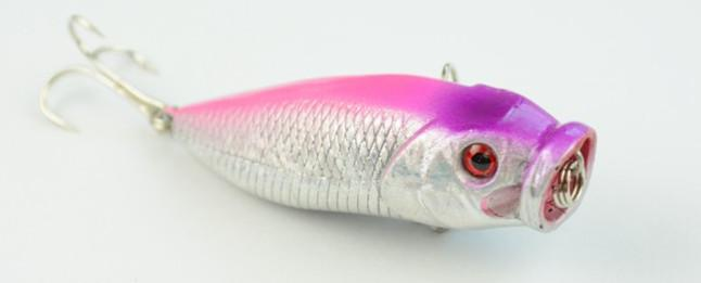 HENGJIA 100 pz i Popper Esche da pesca 6.5CM 9.2G Top Popper plastica esca dura due ganci PO011