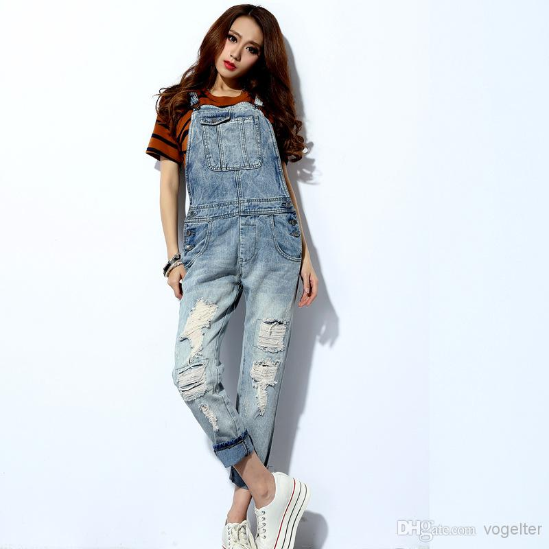 2018 New 2014 Spring And Summer Women Jeans Denim Jumpsuit ...