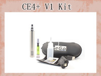 Wholesale Ego Ce4 Vv Starter Kits - eGo vv led Variable Voltage E-Cigarette Starter kit eGo-ce4+ E-Cigarette with eGo vv LED battery and ce4+ atomizer free shipping
