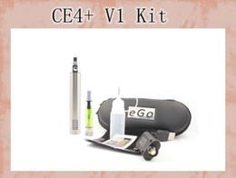 eGo vv led Variable Voltage E-Cigarette Starter kit eGo-ce4 + E-Cigarette con eGo vv LED batería y ce4 + atomizador envío gratis en venta