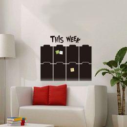 Wholesale Calendar Stickers - Week Planner Chalkboard Wall Stickers, Calendar Blackboard Stickers For Office Classroom Decoration