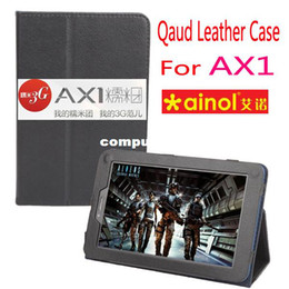 Wholesale Ipad Case Apple 7inch - Cheapest Price! Leather Case for Ainol Numy AX1 Tablet Floder Stand Cover Skin 7inch Black Color