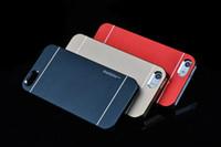 Wholesale Aluminium For Iphone 5g - MOTOMO Brushed Metal Aluminium Alloy Hard PC Cover Case for iPhone 6G 6 Plus 6+ 5 5G 5S 4 4S