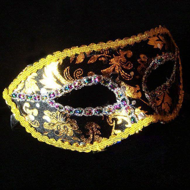 Новая маска женщины Sexy Hallowmas венецианская маска маскарадные маски свет покрытие маска мяч партия изысканный человек Рождественский подарок 20 шт./лот