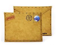 противоударная кожа силиконовой таблетки оптовых-Бесплатная доставка ретро старинные коричневый конверт стиль кожаный чехол кожаный рукав Сумка чехол для 9.7 дюймов Ipad 2/3/4