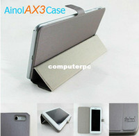 Wholesale Ainol Cover Stand - Free ship! Case for Ainol Numy AX3 Tablet Folder Stand Cover Skin 7inch, Dark Grey
