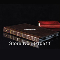 Brown Color Retro Book Estilo PU Leather Flip Wallet stand Case Cover Skin Protective shell Protector para Ipad Mini 1/2