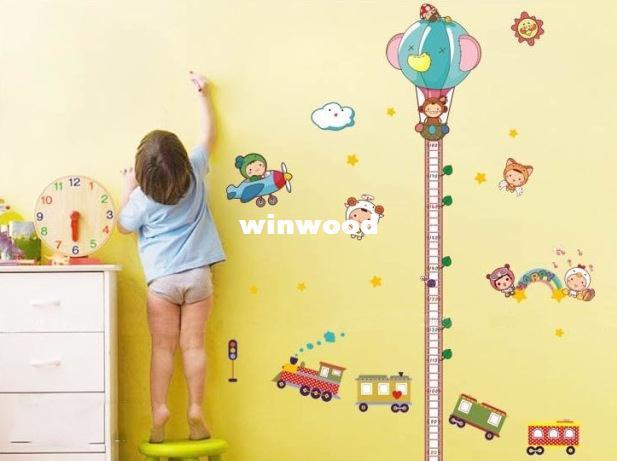 Spedizione gratuita Rimovibile Romantico soggiorno TV sfondo Cartoon bambini camera da letto Decorazione Adesivi murali carta da parati
