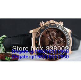 Eta механические часы онлайн-Роскошные мужские механические Вечный Керамический хронограф Valjoux Cosmograph 116515 мужская кожа ETA 7750 часы