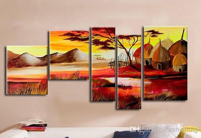 2018 Home Office Oil Painting On Canva African Landscape Abstract  Decoration High Quality Handmade Hotel Wall Art Decor Artwork From  Fashiondig, ...