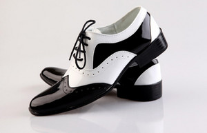 NEW Black and White Groom shoes men leather shoes men's casual Business work shoes men's wedding groom shoes dress shoes SIZE:39-44