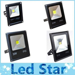 Wholesale Led Wall Wash Flood Light - (10pcs lot) 10W 20W 30W 50W LED Floodlight Outdoor LED Wash Flood light lamp AC85V-265V warm white cold white Red Green Blue