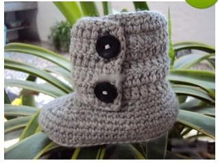 HOT sale!Wholesale - Crochet baby booties first walker shoes cotton yarn 2 botton 9pairs/lot 18pcs 0-12M free shipping