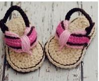 Wholesale Crochet Double Sole Baby Shoes - HOT sale!Wholesale - Crochet baby sandals first walker shoes infant stripe slippers 0-12M double sole 28pairs lot cotton free shipping