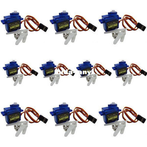 10pcs TowerPro micro servo motor SG90 9G for Align Trex 450 250 RC Robot Helicopter Airplane controls 1.8kg Free shipping
