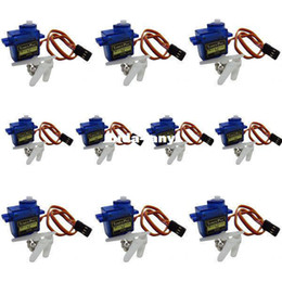 Wholesale Robot Motors - 10pcs TowerPro micro servo motor SG90 9G for Align Trex 450 250 RC Robot Helicopter Airplane controls 1.8kg Free shipping