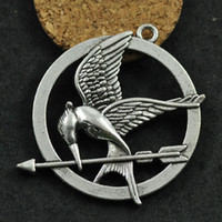 Wholesale Hunger Games Pendant - 25mm 2colors silver bronze The Hunger Games Laugh at Bird Charms pendant sp73