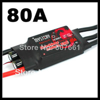 Wholesale Rc Helicopter Fire - 2014 Fire Dragon 80A Brushless ESC RC Speed Controller with free shipping