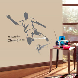 Wholesale Pvc Soccer Ball Football - 2014 New The World Cup Large Soccer Ball Football Wall Sticker For Boys Bedroom Decor Wall Art Decals Sport Poster 120*110cm