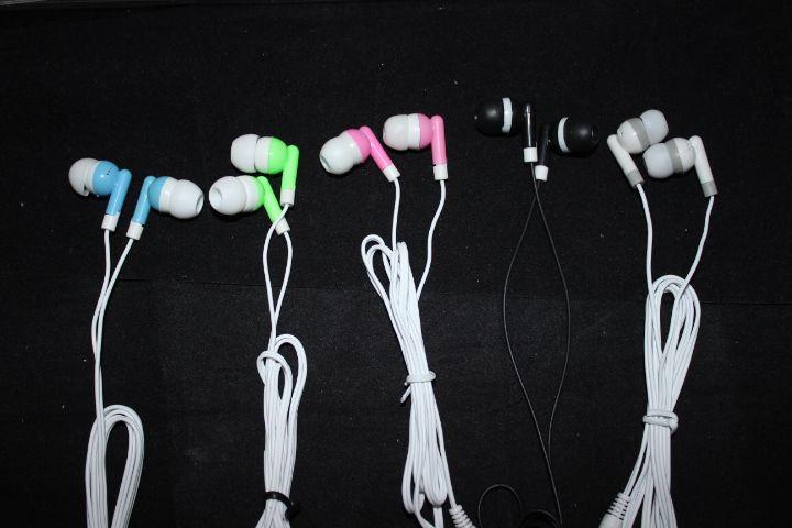 3.5mm In ear headphones earphone earbud headset headphone for PC Laptop MP3 MP4 DHL FEDEX free