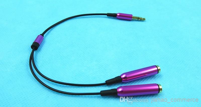 Il miglior mini jack stereo da 3,5 mm 1 cavo maschio auricolare splitter Y maschio a 2 femmine