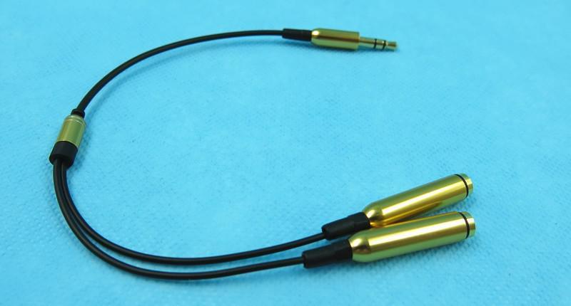 En iyi 3.5 mm stereo mini jak 1 Erkek 2 Kadın Y Splitter Kulaklık Ses Kablosu