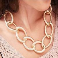 Wholesale Twisted Chunky Choker Necklace - Fashion Chunky Rose Gold Twisted Link Chain LaFashion Chunky Rose Gold Twisted Link Chain Ladies' Stadies' Statement Choker Necklace Jewelry