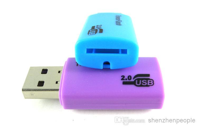 2000 шт. Высокое качество НОВЫЙ ТИП E USB TRANSFLASH MICRO SD TF АДАПТЕР КАРТЫ ПАМЯТИ 1 ГБ 2 ГБ 4 ГБ 8 ГБ 16 ГБ 32 ГБ DHL FEDEX бесплатно