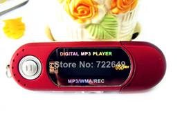 Wholesale Digital Recorder 8gb - REAL 8GB MEMORY AAA battery USB Digital mp3 Players  Voice recorder  FM radio  lcd screen 1PCS free shipping