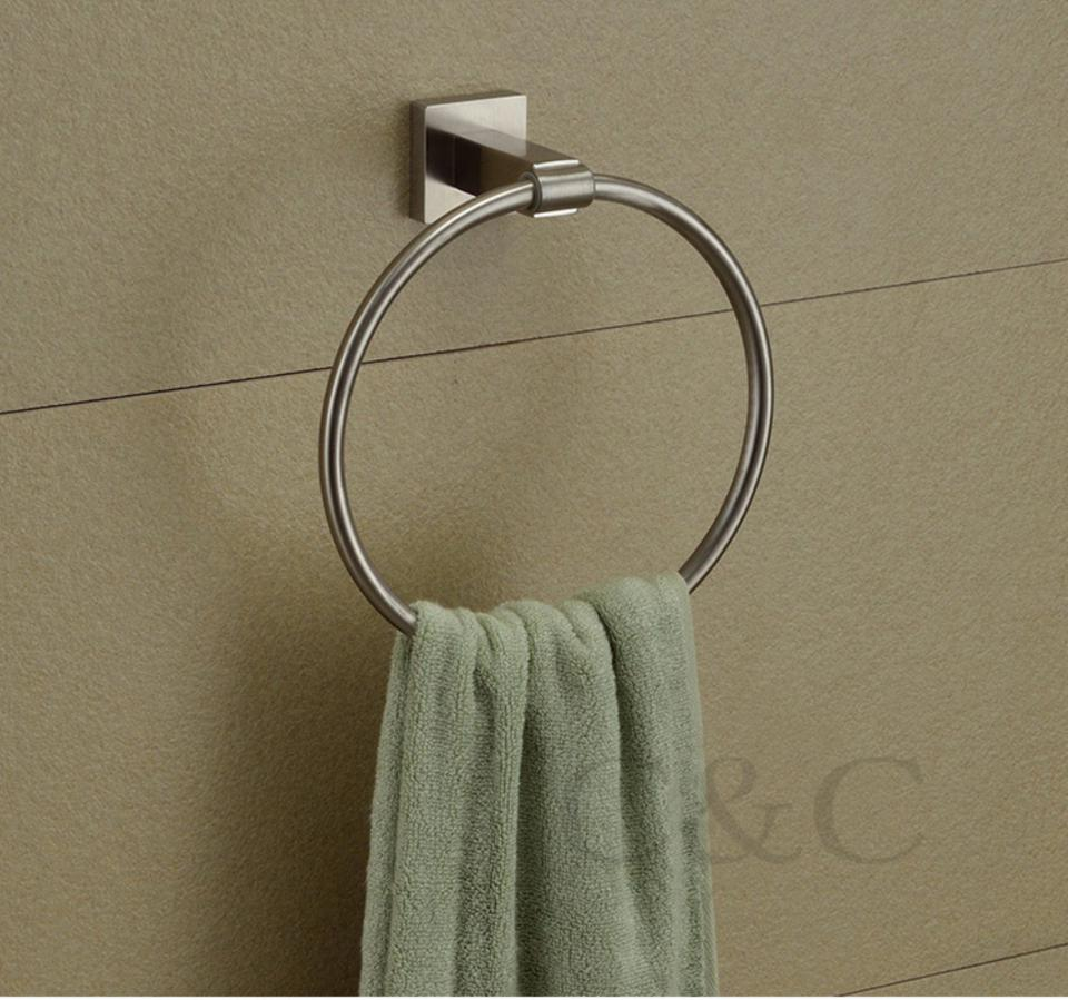 Brushed Nickel 304 Stainless Steel Bathroom Towel Rings   YS 2009 Bathroom  Towel Rings Brushed Towel Rings Nickel Towel Rings Online With $28.2/Piece  On ...