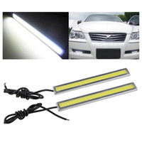 Wholesale Cob Car - S5Q 2x Super Bright COB White Car LED Lights For DRL Fog Driving Lamp Waterproof AAADGD