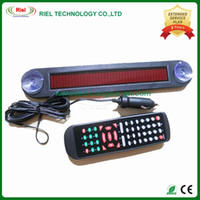 Wholesale Led Scrolling Message Signs - 12V LED Message Digital Moving Scrolling Car Sign Light F735R Red color 30*5*1cm nglish and Russian display Scrolling