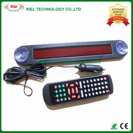 Wholesale 12v Led Scrolling Sign - 12V LED Message Digital Moving Scrolling Car Sign Light F735R Red color 30*5*1cm nglish and Russian display Scrolling