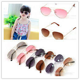 Wholesale Eyewear Children - 2014 Cool Style Children Summer Sunglasses Kids UV Protection Eyewear Childs Coloful Beach Glasses 12pics lot With Glasses Case H0310