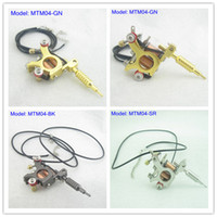 Wholesale Tattoo Machine Ornament - Mini Toy Tattoo machine Gun With Chain As Pendant Ornament Supply MTM04#