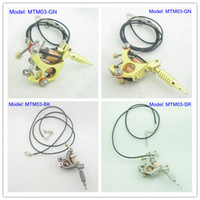 Wholesale Tattoo Machine Ornament - Mini Toy Tattoo machine Gun With Chain As Pendant Ornament Supply MTM03#